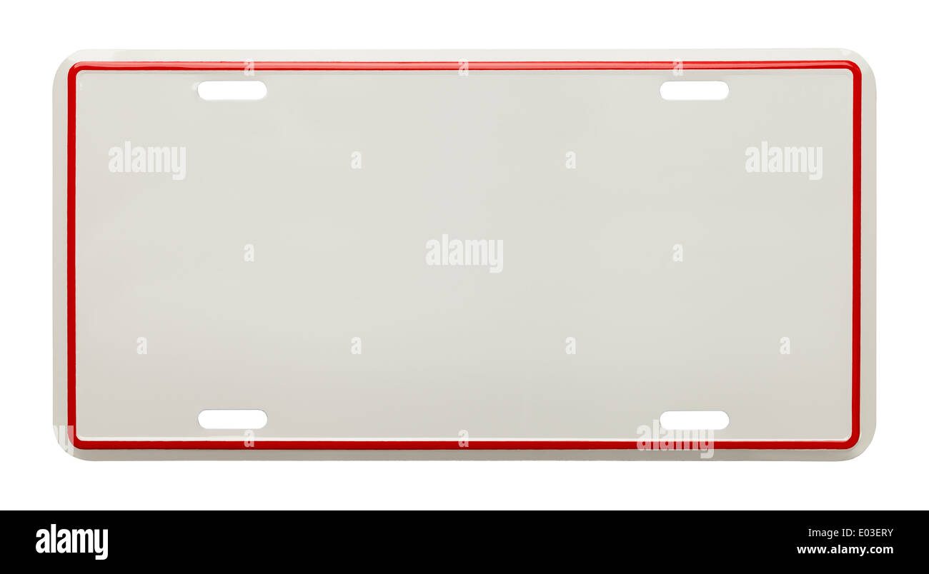 number plate blank stockfotos number plate blank bilder alamy. Black Bedroom Furniture Sets. Home Design Ideas