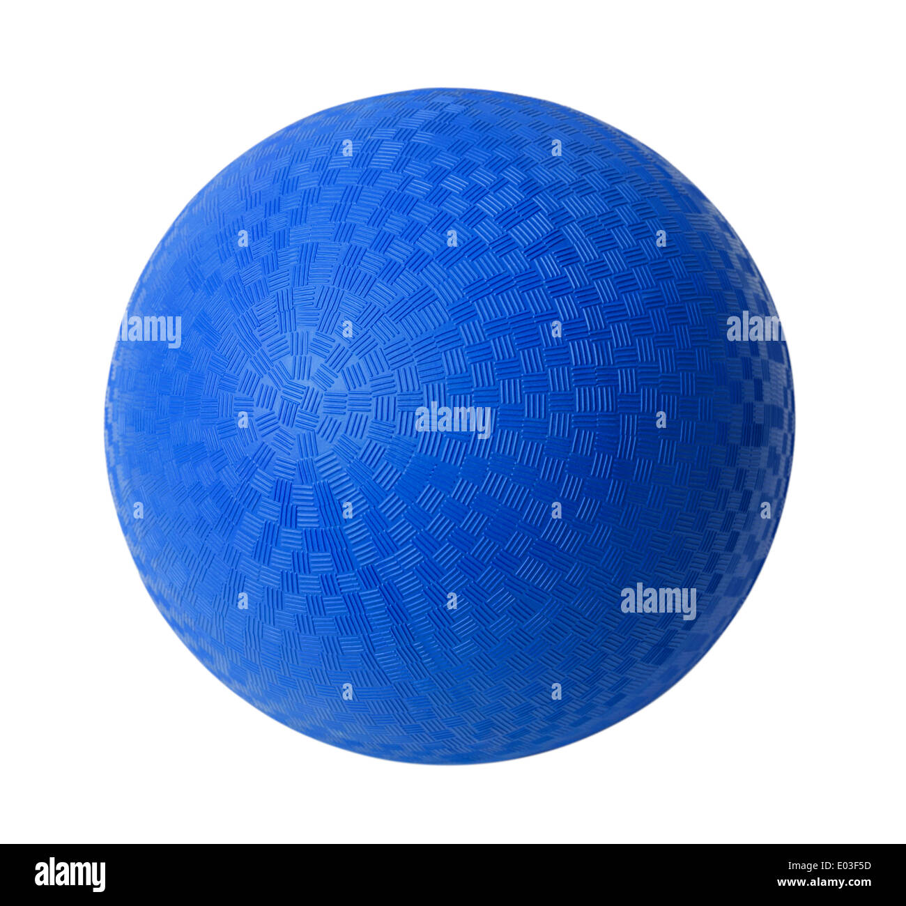 Blauer Gummiball, Isolated on White Background. Stockbild