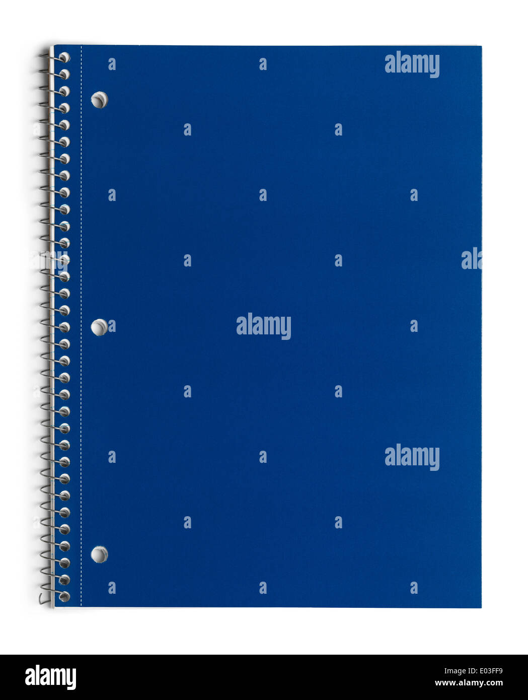Linie Papier Schulheft mit Exemplar, Isolated on White Background. Stockfoto