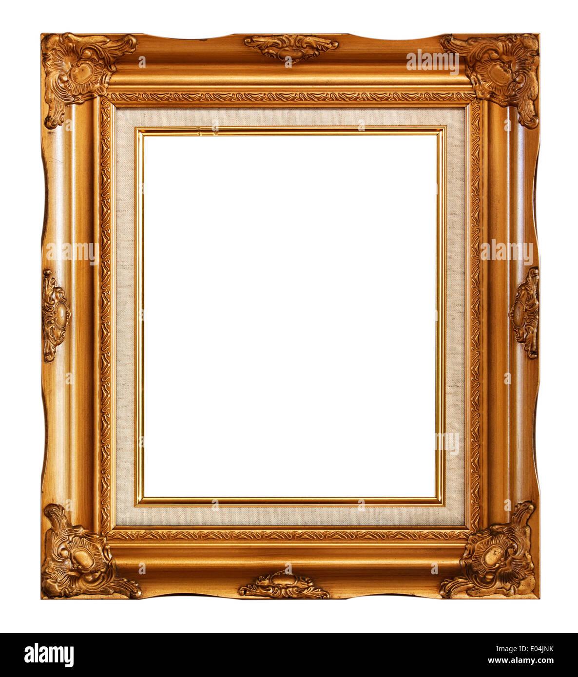 Rahmen gold Holz Bilderrahmen im weißen Hintergrund Stockfoto, Bild ...