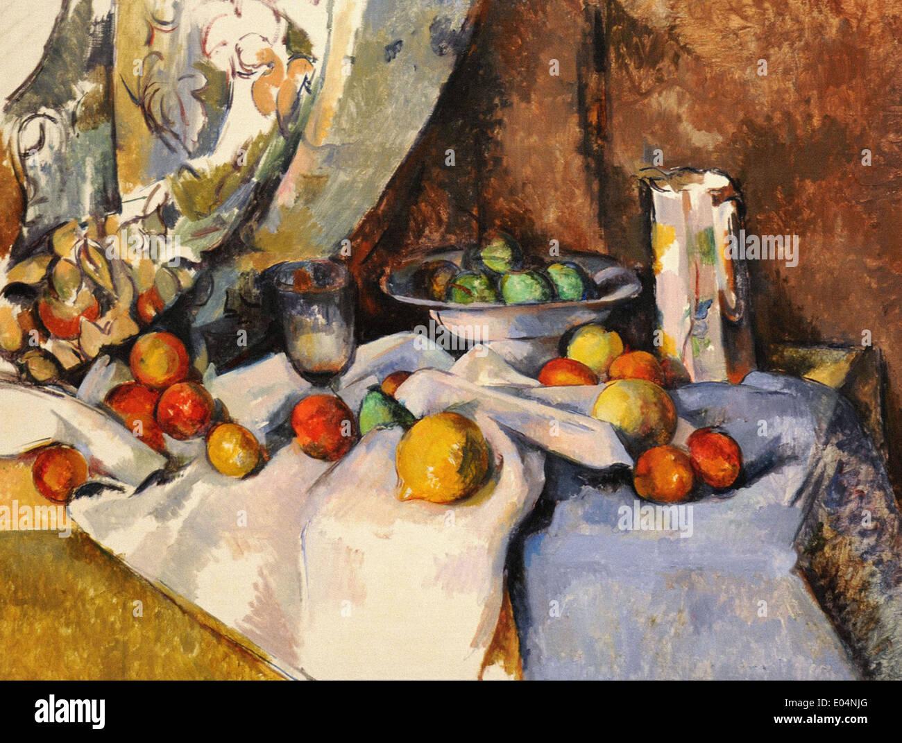 Paul Cézanne Stillleben mit Äpfeln Stockbild
