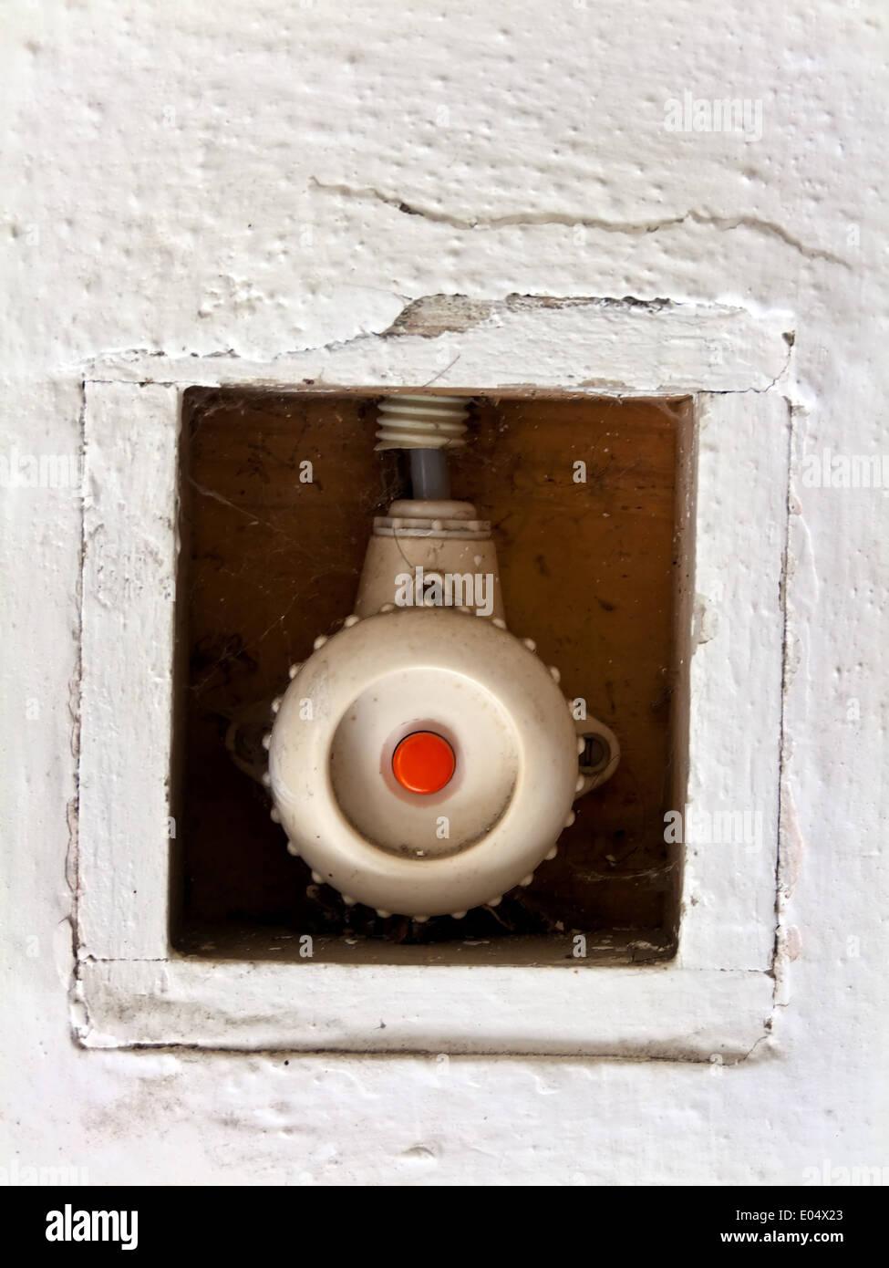 Alte Lichtschalter für die Beleuchtung in einem Haus, Alter ...