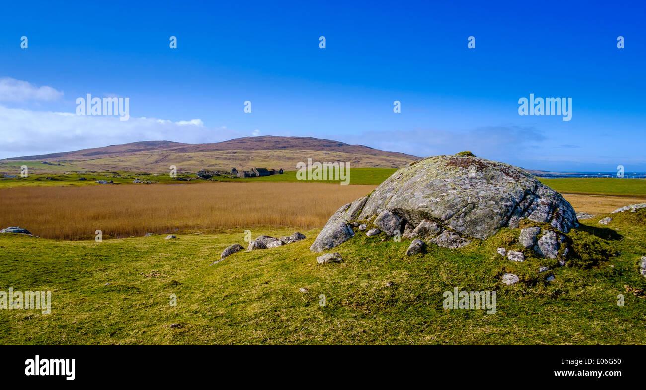 Landschaft in Griminish, North Uist, äußeren Hebriden, Schottland Stockfoto