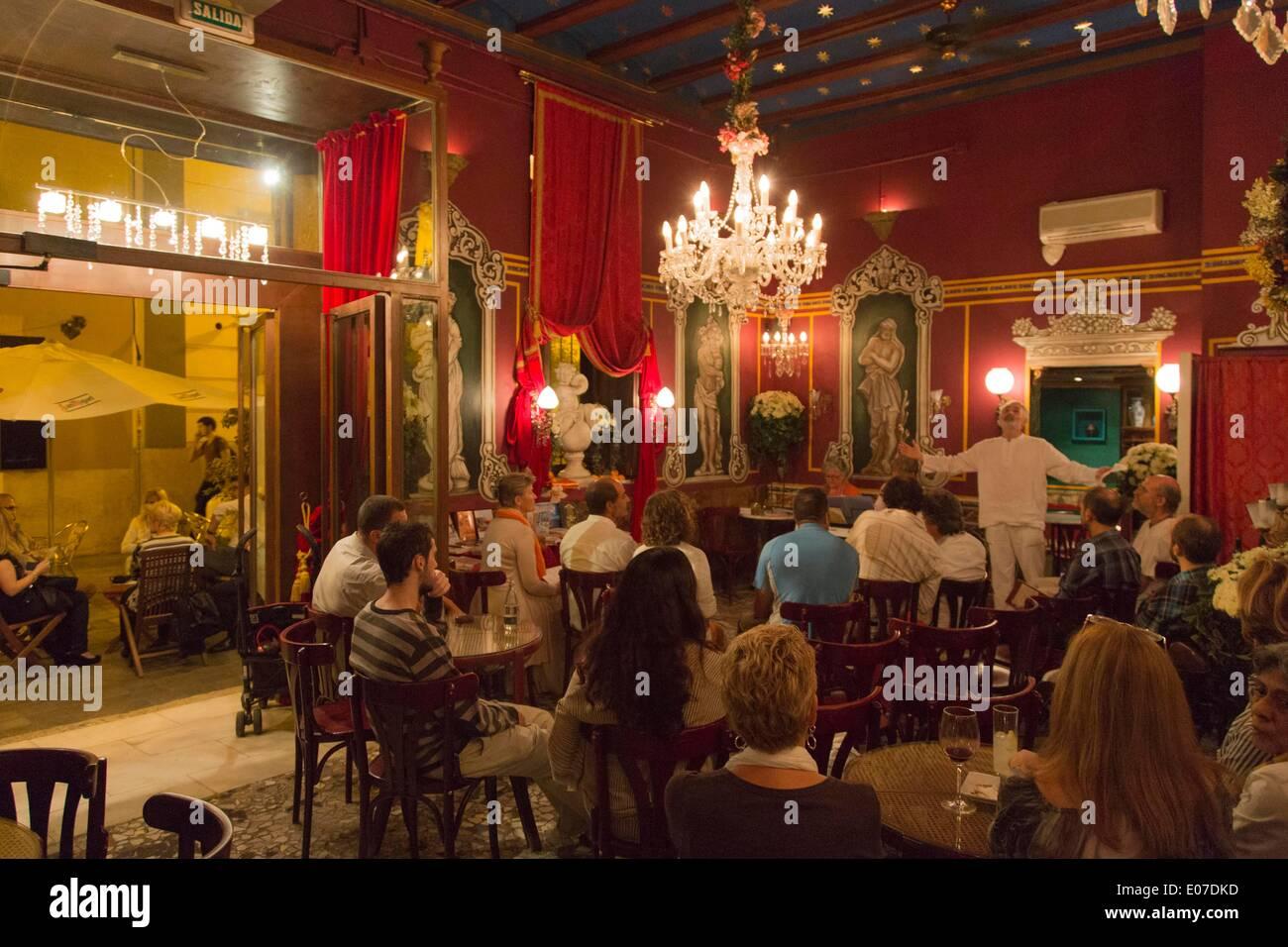 Kulturcafé Cafe De Las Horas In Valencia 29102013 Stockfoto Bild