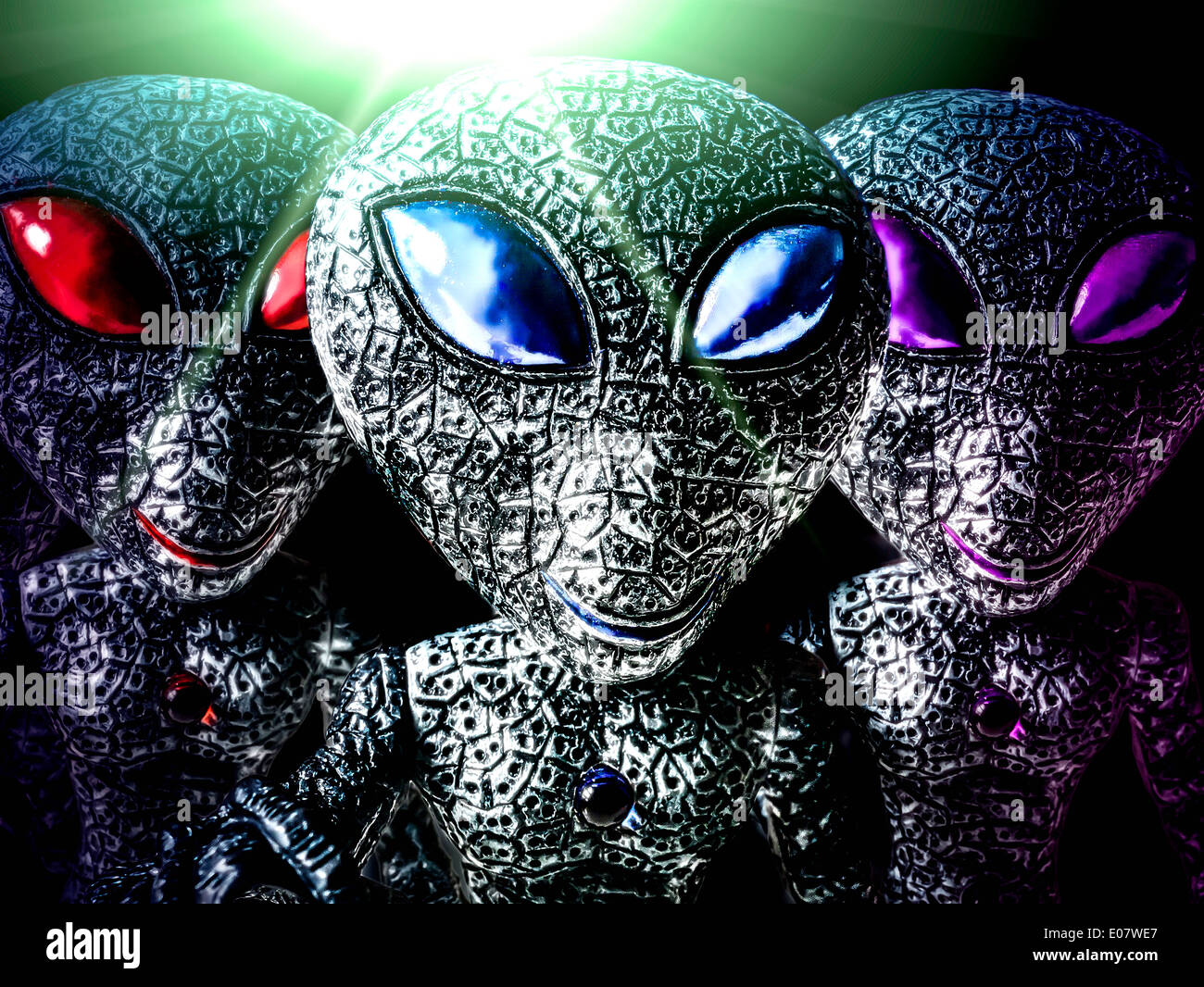 Alien Spielzeug Stockbild