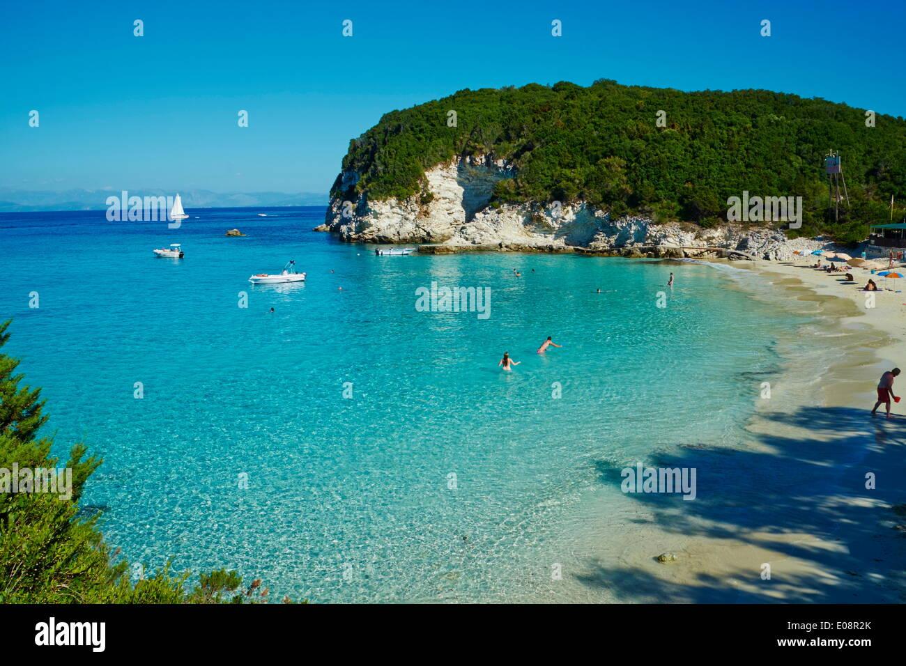 Vrika Strand Antipaxos Antipaxi Ionische Inseln Griechische