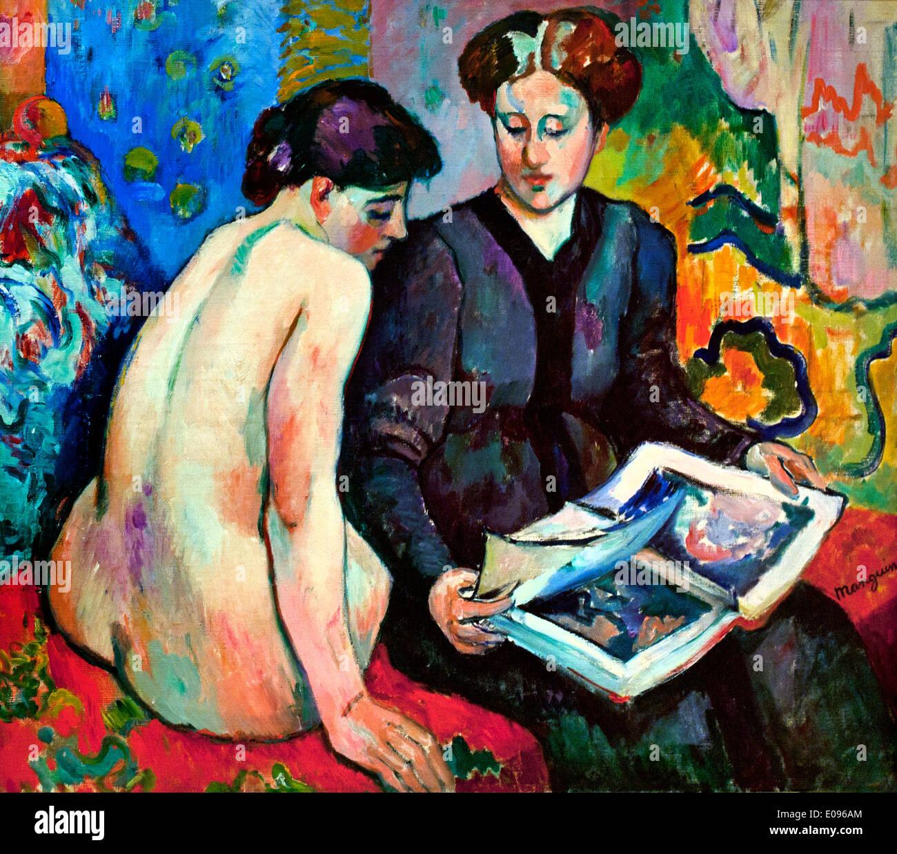Die Drucke 1905 Henri Manquin 1874-1948 Frankreich Französisch Stockbild