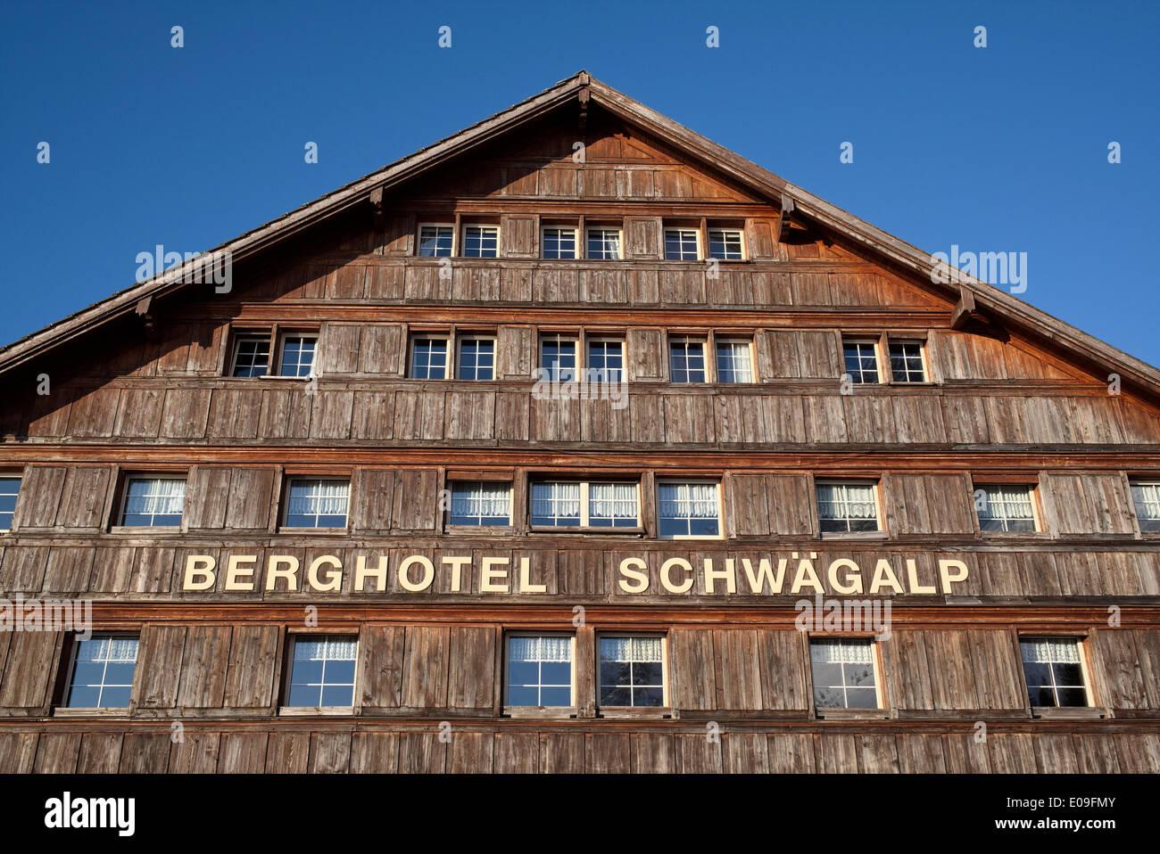 Schweiz, Kanton Appenzell Ausserrhoden, Alpine Hotel Schwaegalp Stockbild