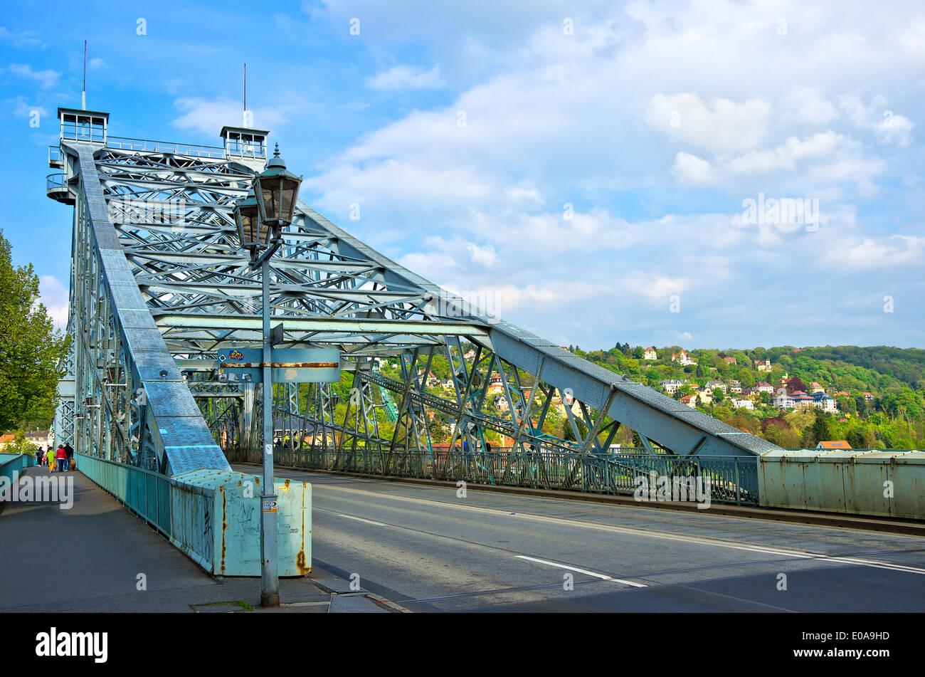 Das blaue Wunder-Brücke, Dresden, Sachsen, Deutschland Stockbild