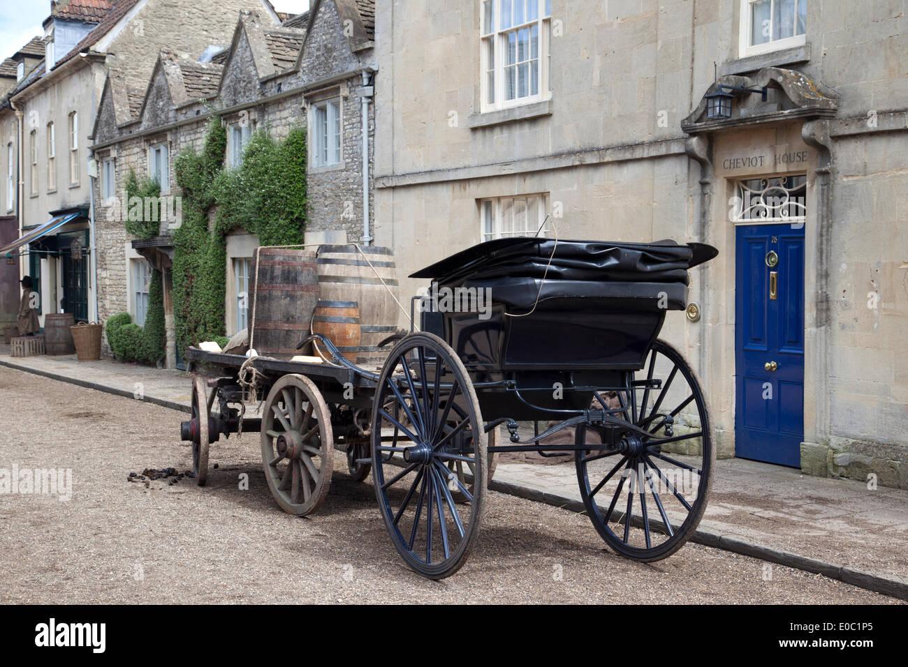 Film Satz der Periode Drama Poldark Corsham, Wiltshire, UK. 7. Mai 2014. Stockfoto