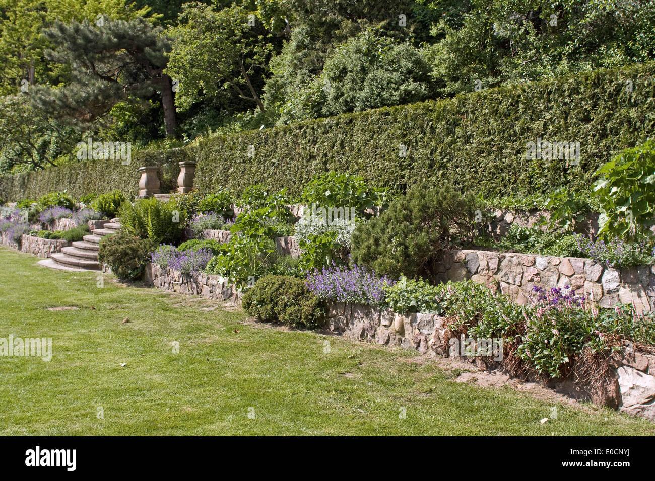 Europa Deutschland Hamburg Römischer Garten Stockfoto Bild