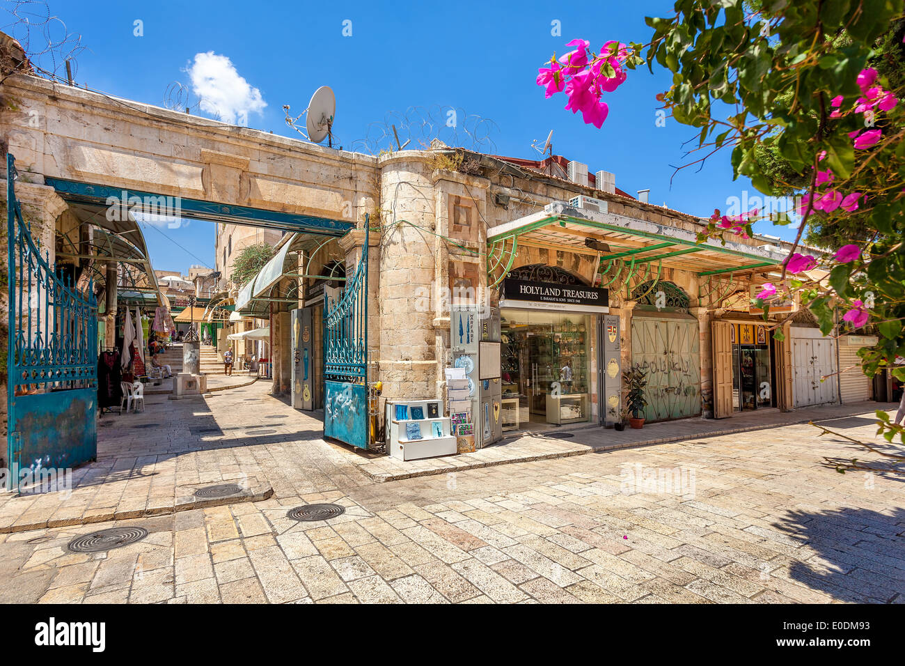 Alten Basar in Jerusalem, Israel. Stockbild