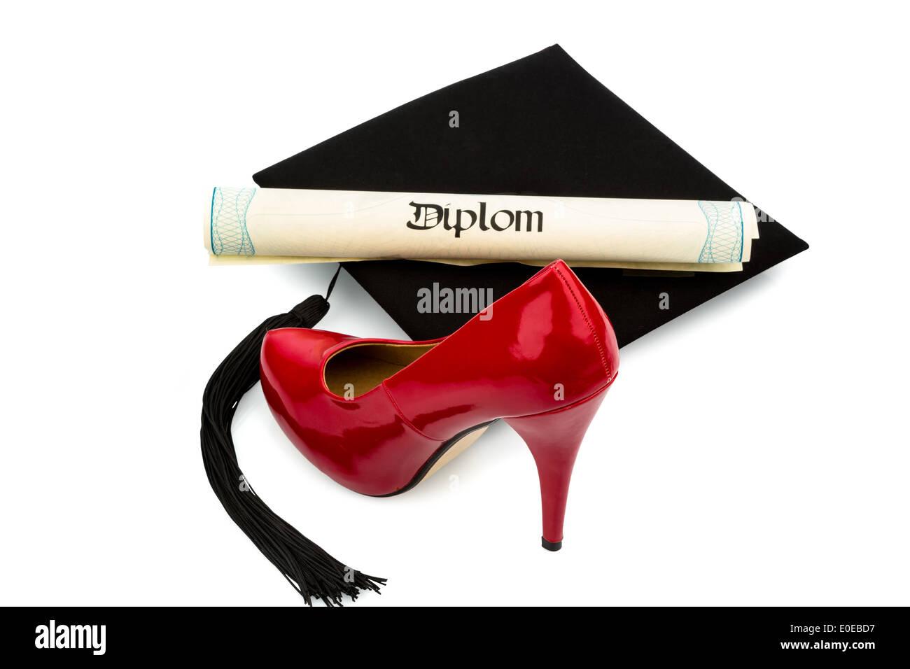 ee2918fc059a2a Eine rote Damen Schuh