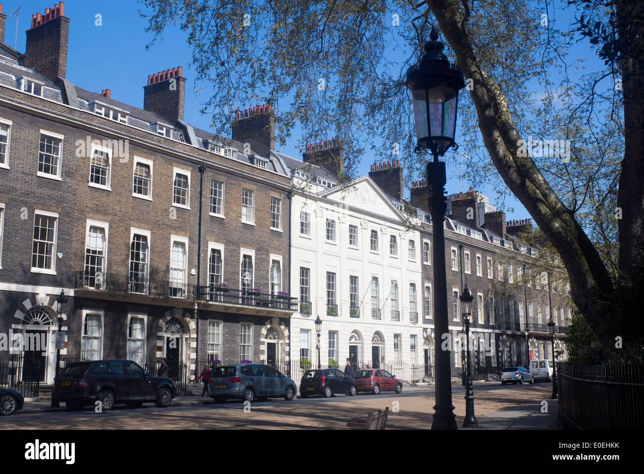 Bedford Square Bloomsbury London England UK georgischen Terrasse ...