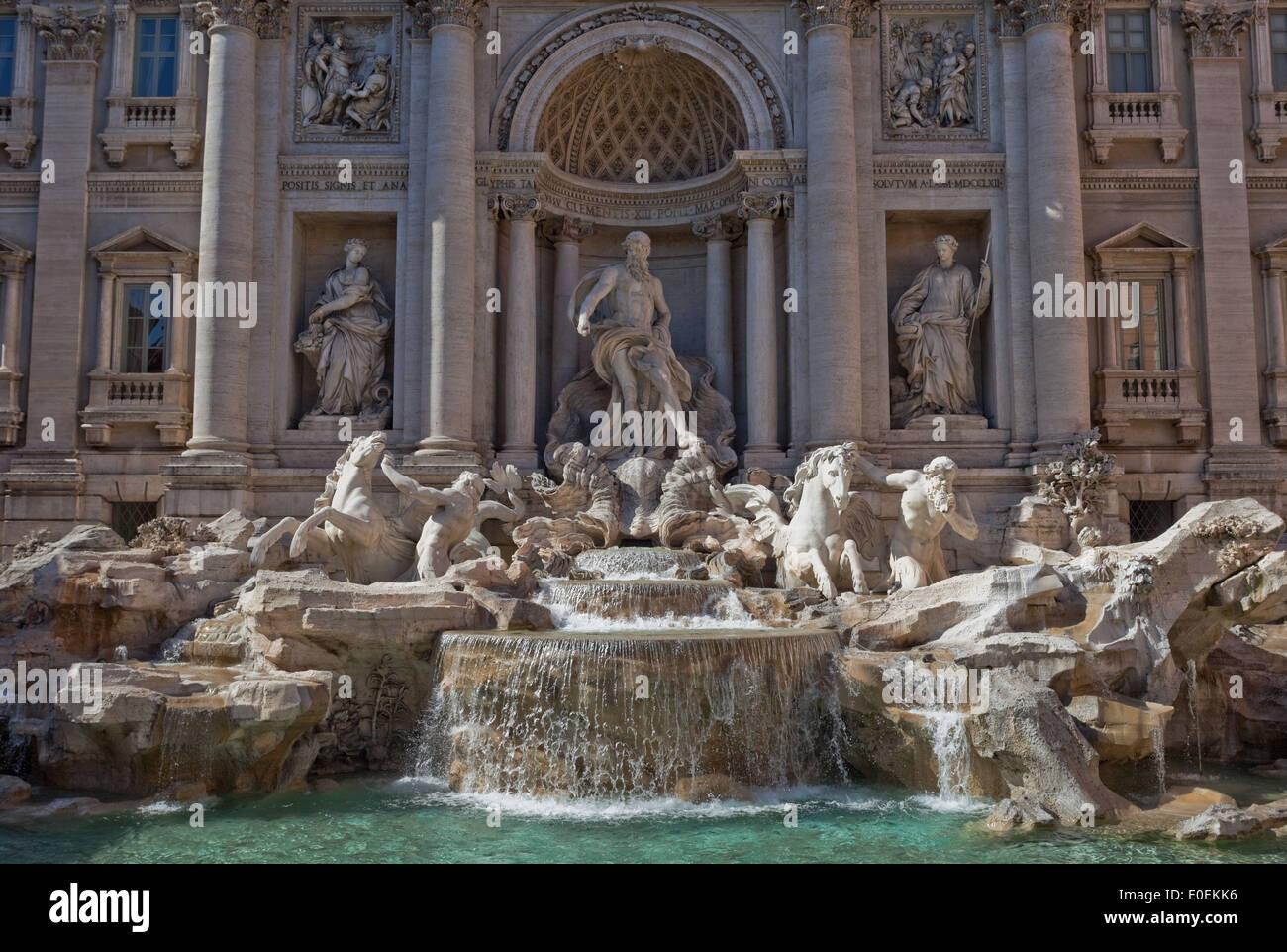 Trevi-Brunnen, Rom, Italien - Fontana di Trevi, Rom, Italien Stockbild