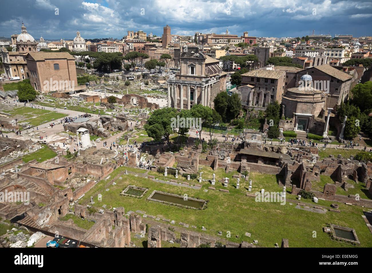Forum Romanum, Rom, Italien - Forum Romanum, Rom, Italien Stockbild