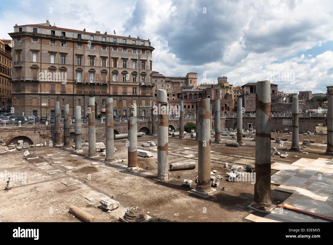 Forum Imperiali, Rom, Italien - Forum Imperiali, Rom, Italien Stockbild
