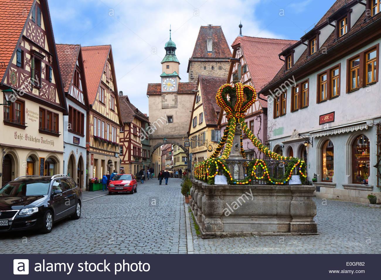Markus Turm, Rothenburg Ob der Tauber, Franken, Bayern, Deutschland Stockbild