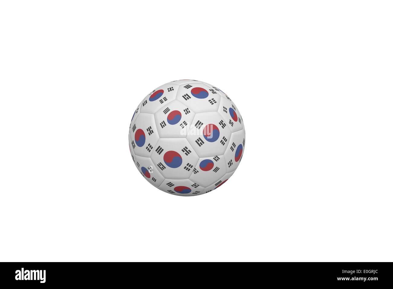 Fußball in Südkorea Farben Stockfoto, Bild: 69211252 - Alamy
