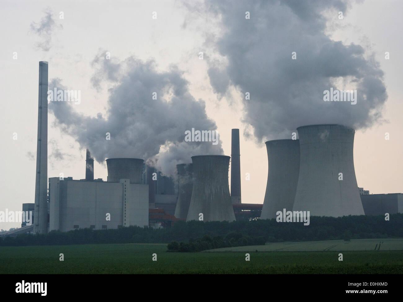 Kamin Köln deutschland nahe köln kraftwerk industrie kamin rauch aber
