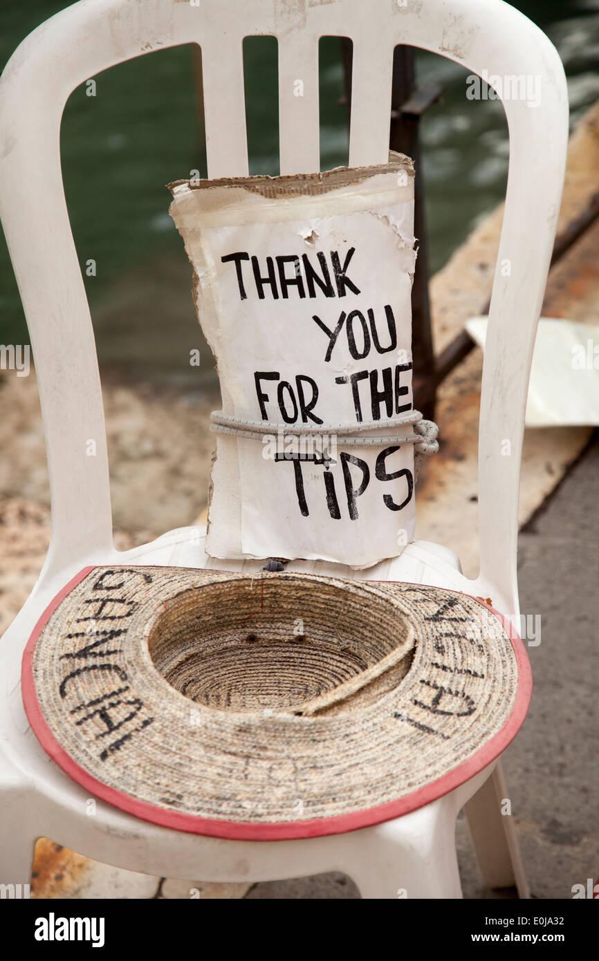 Hut für Tipps. Stockbild