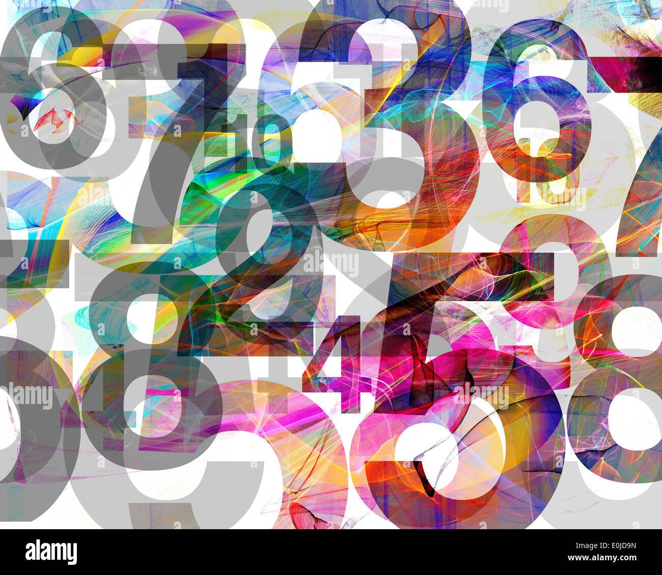 Grafik: Das Spiel mit Zahlen Stockbild