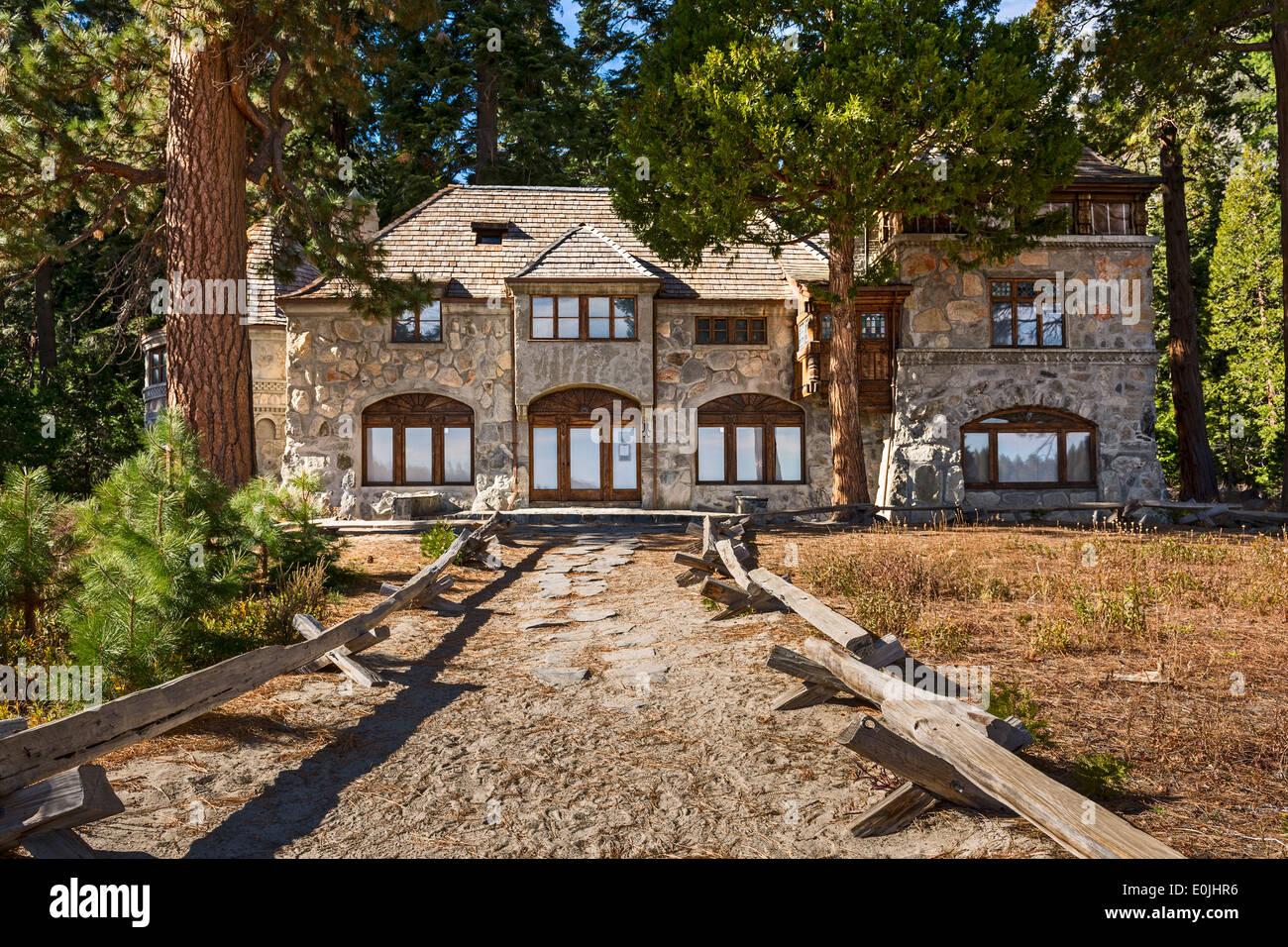 Die Vikingsholm Mansion in Lake Tahoe. Stockbild