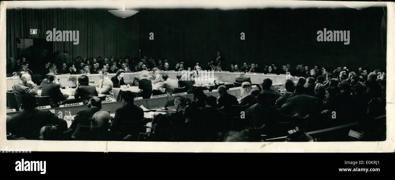 5. Mai 1947 - Vereinten Nationen diskutieren das Palästinaproblem. Politischen Ausschusses am Lake Success, N.Y.: totale der Vereinten Nationen Stockbild