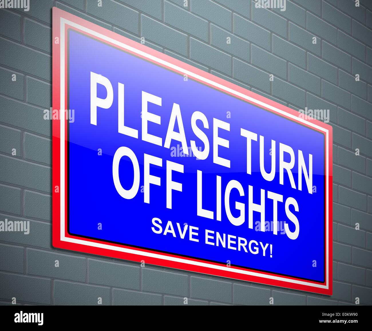 Schalten Sie Lichter Konzept Stockfoto, Bild: 69278412 - Alamy