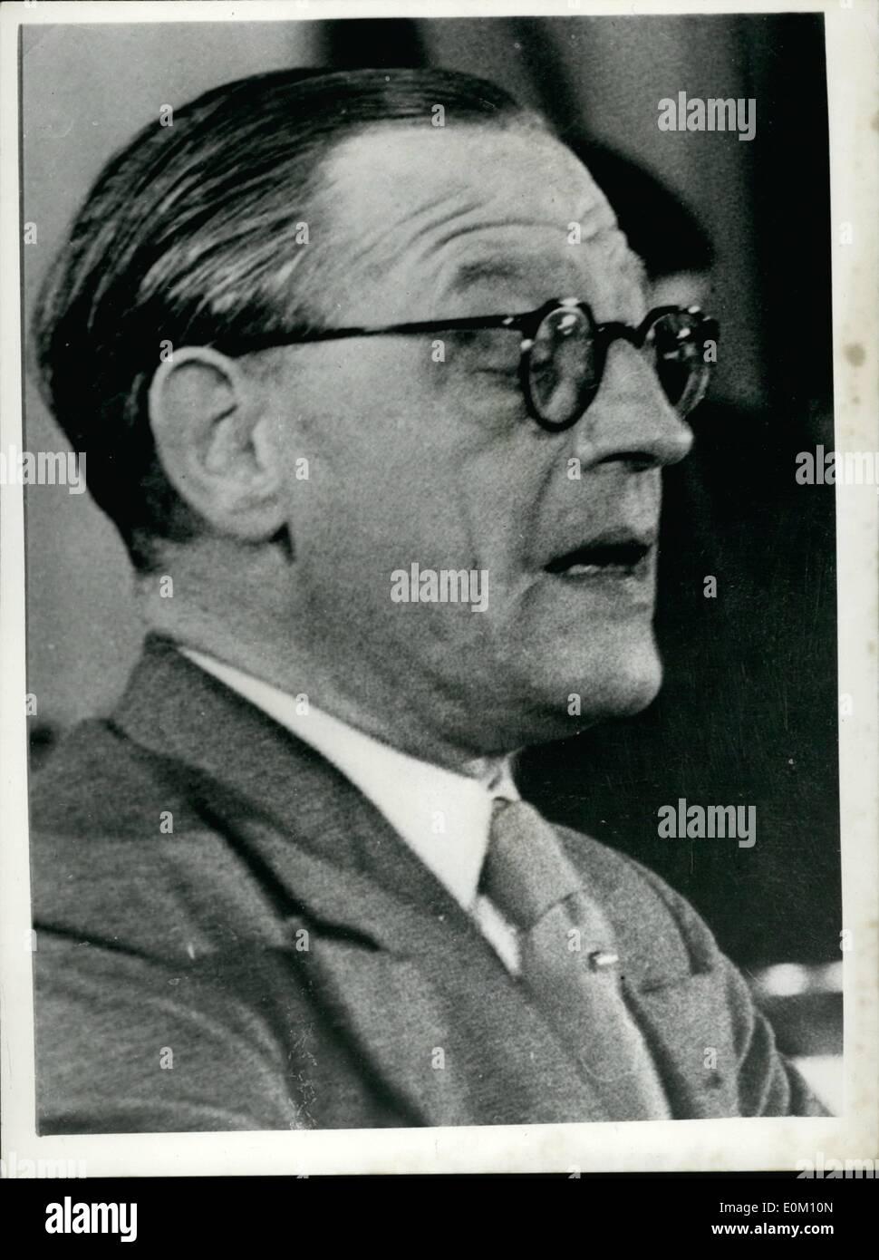 1. Januar 1953 - Osten deutsche Außenminister FESTGENOMMEN... HERR ...