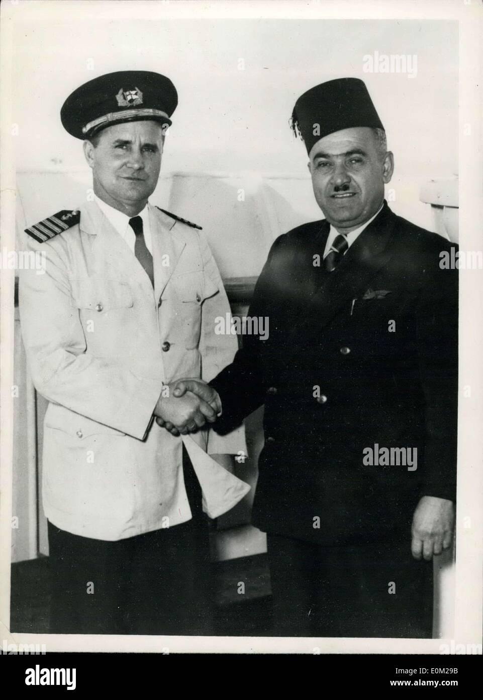 9 März 1953 Zwei Helden Der See Links Carlsen Von Enterprise