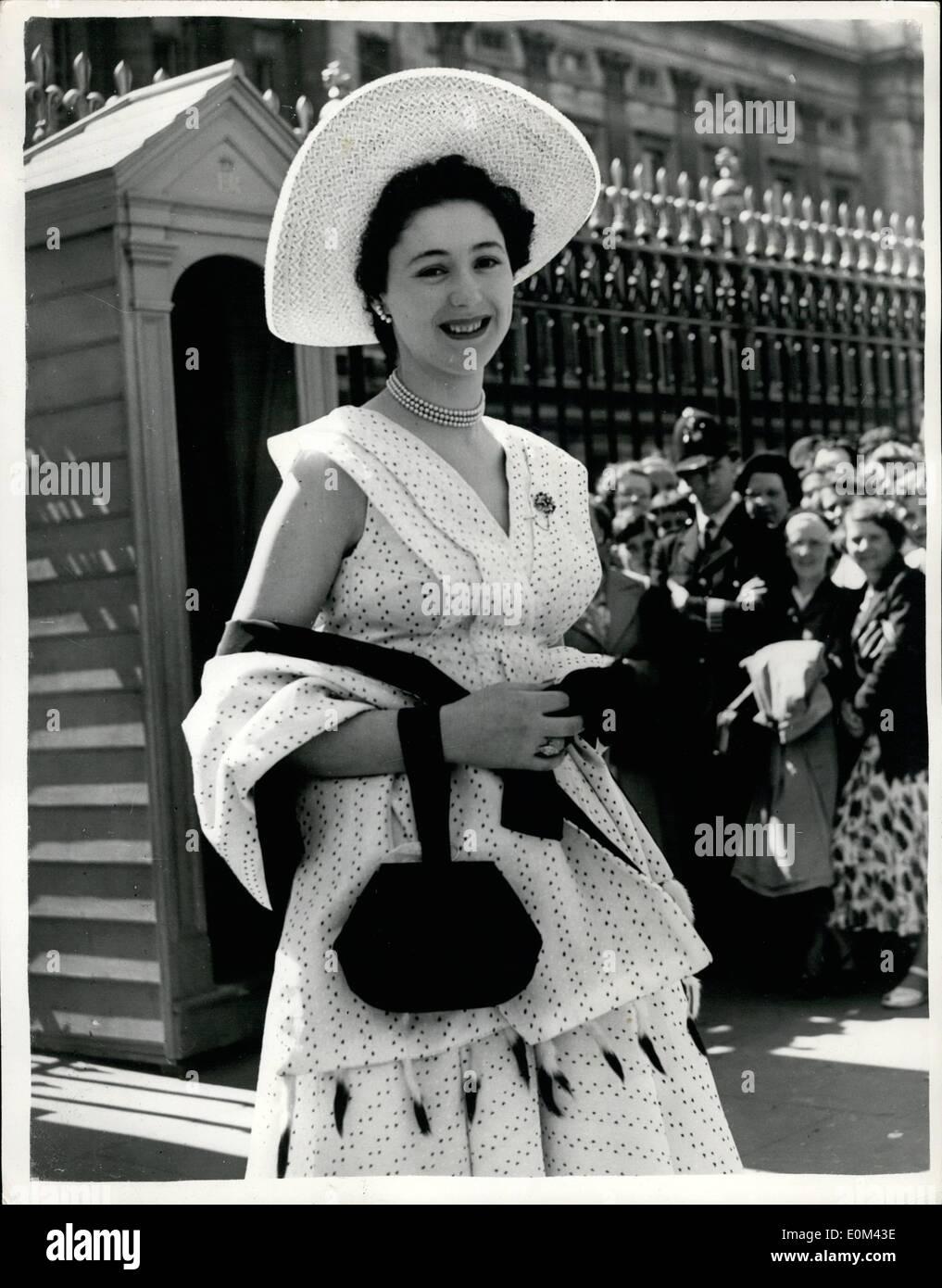 5. Mai 1953 - königliche Gartenparty im Buckingham-Palast: Foto ...