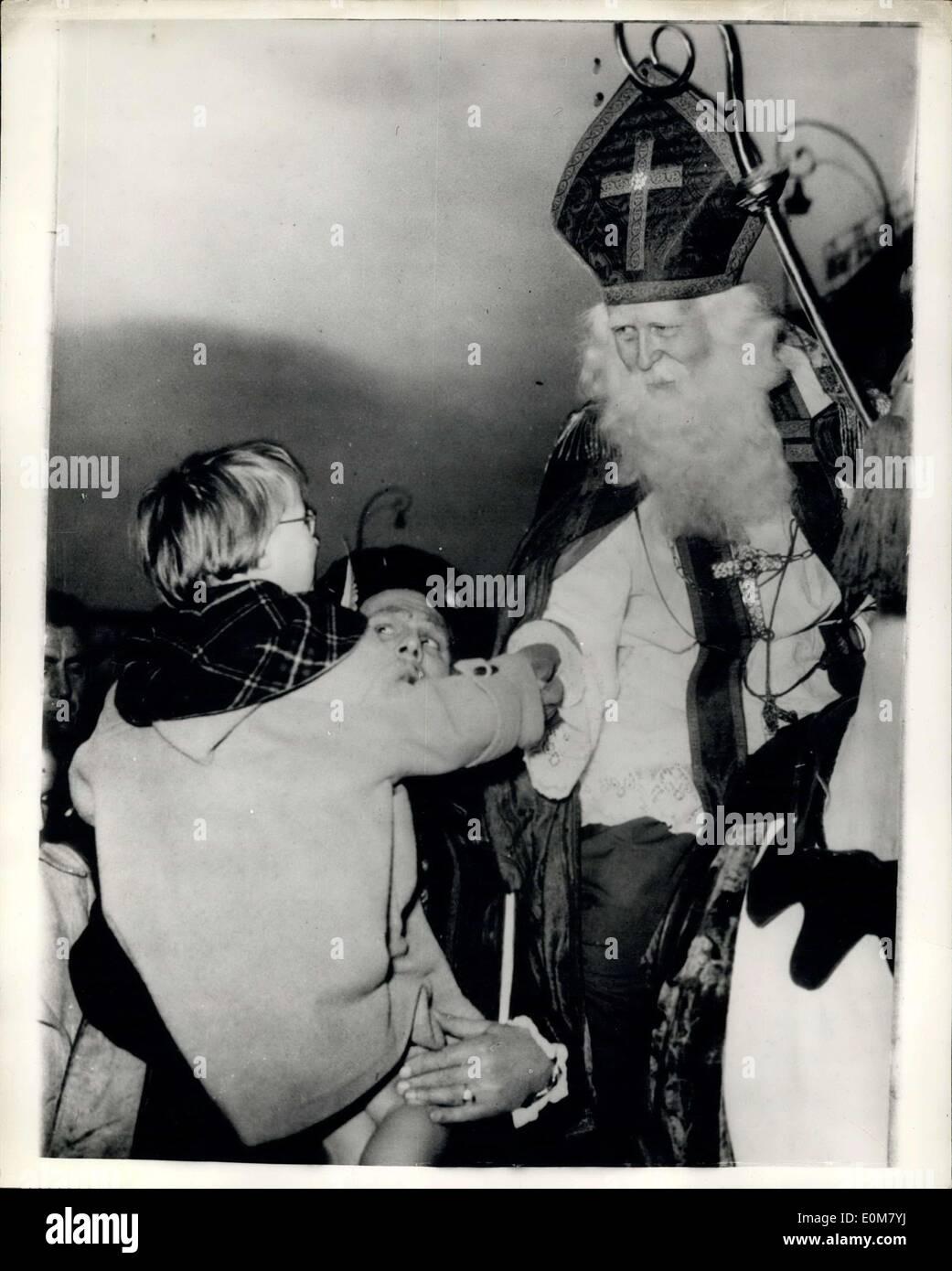 23. November 1953 - St. Nikolaus feiern In Amsterdam. Prinzessin ...