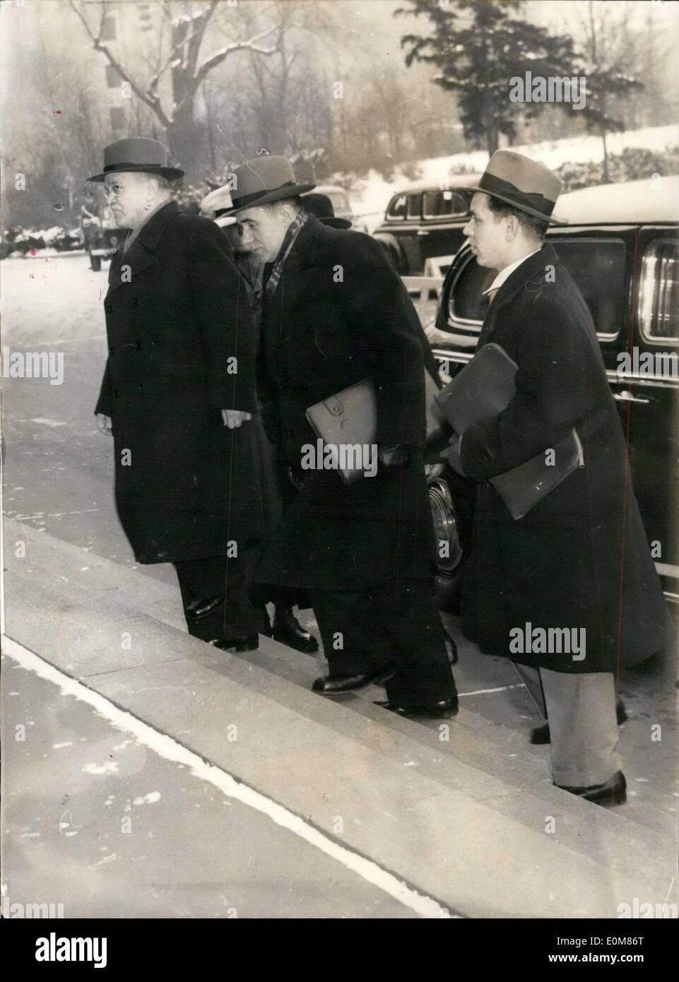 25. Januar 1954 - im Bild ist die sowjetische Delegation unter ...