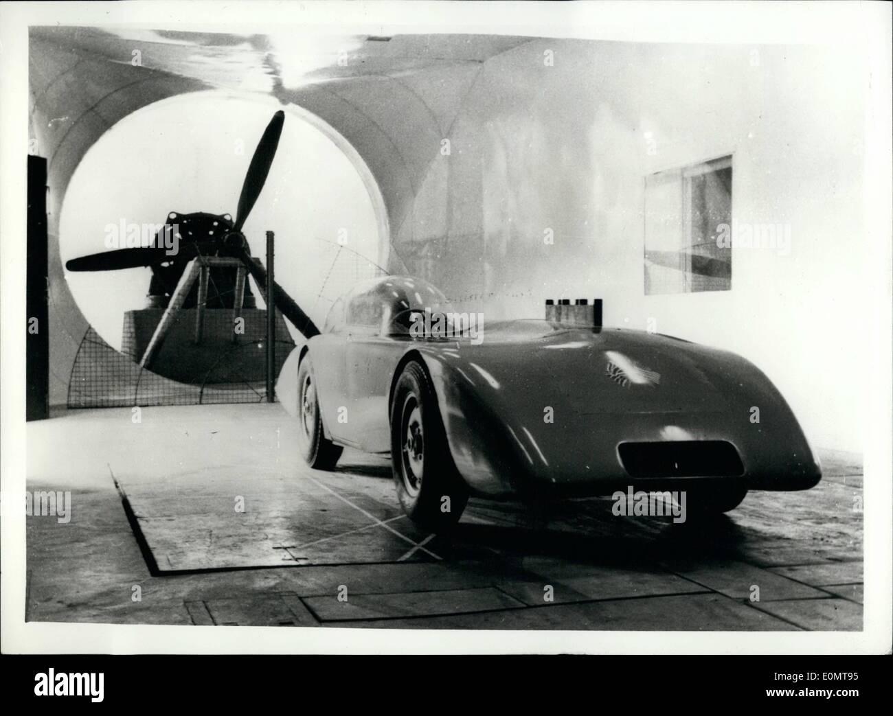 8. August 1956 - Austin Healey übersteigt 200 mph: Es wurde gerade eine angekündigte, Austin Healey Hunderte Auto - von Stockbild