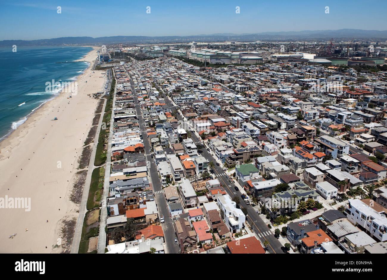 manhattan beach kalifornien usa 15 mai 2014 der strand stadt manhattan beach s dwestlich. Black Bedroom Furniture Sets. Home Design Ideas