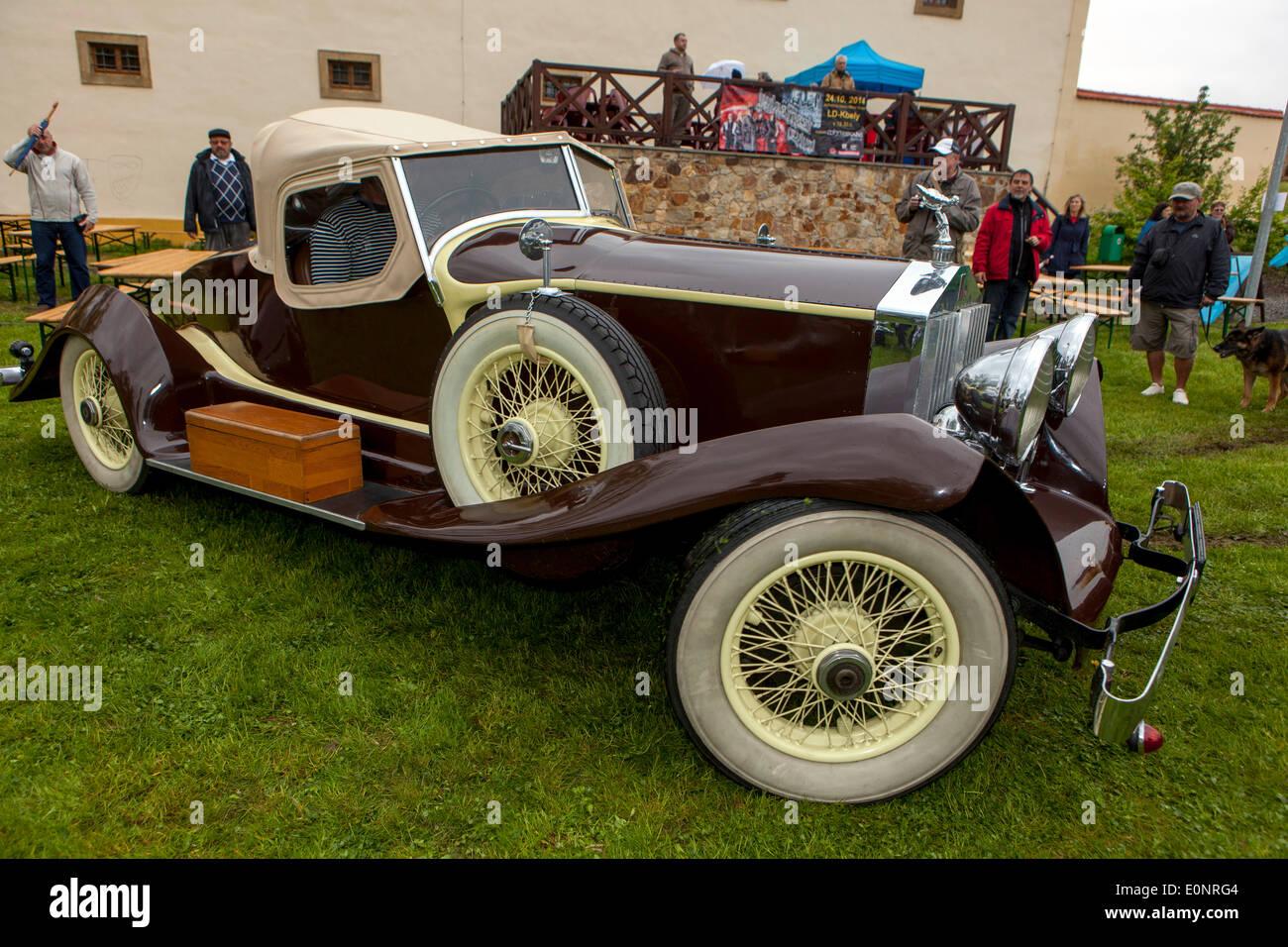 Rolls Royce Silver Ghost roadster, Oldtimer, Tschechische Republik Stockbild