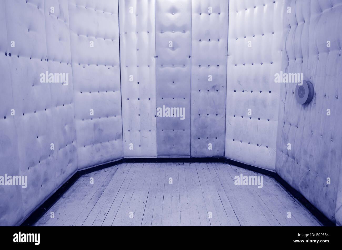 Leere Gummizelle. Konzept-Foto der psychiatrischen Klinik, psychiatrische Kliniken, psychiatrischen Stationen und psychischen Störungen. Stockbild