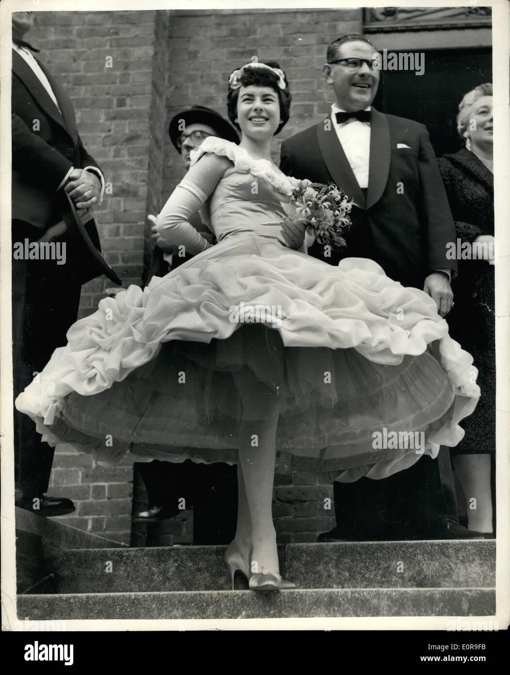 10. Oktober 1958 - Hula-Hoop-Wirbel. Ungewöhnliche Kleid ...