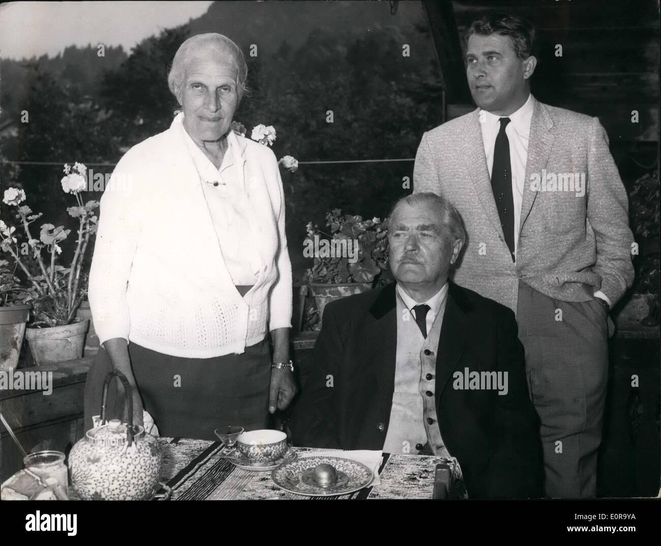 Sept. 09, 1958 - The Rocket Spezialist Wernher Von Braun: verbringt einige Tage der Erholung mit seinen Eltern in Stockfoto