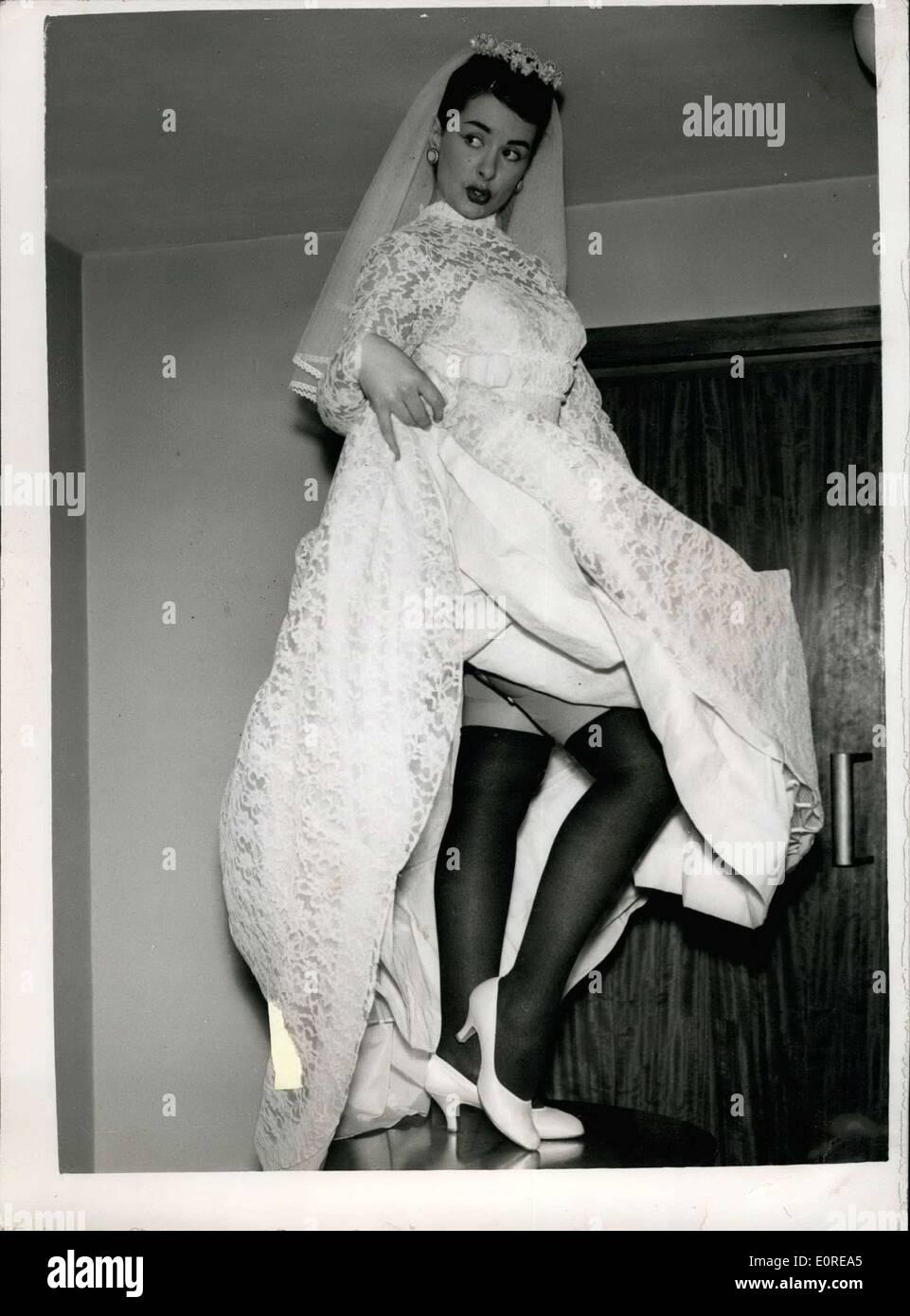17. Februar 1959 - Hochzeit Kleider viele Länder In zeigen In London ...