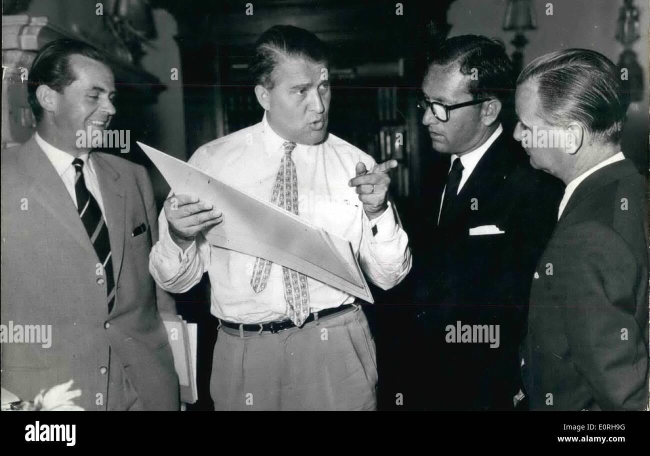Sept. 09, 1959 - Wernher von Braun - ein Verräter?: Es gab einen Streit zwischen dem britischen Regisseur Lee Thompson Stockfoto