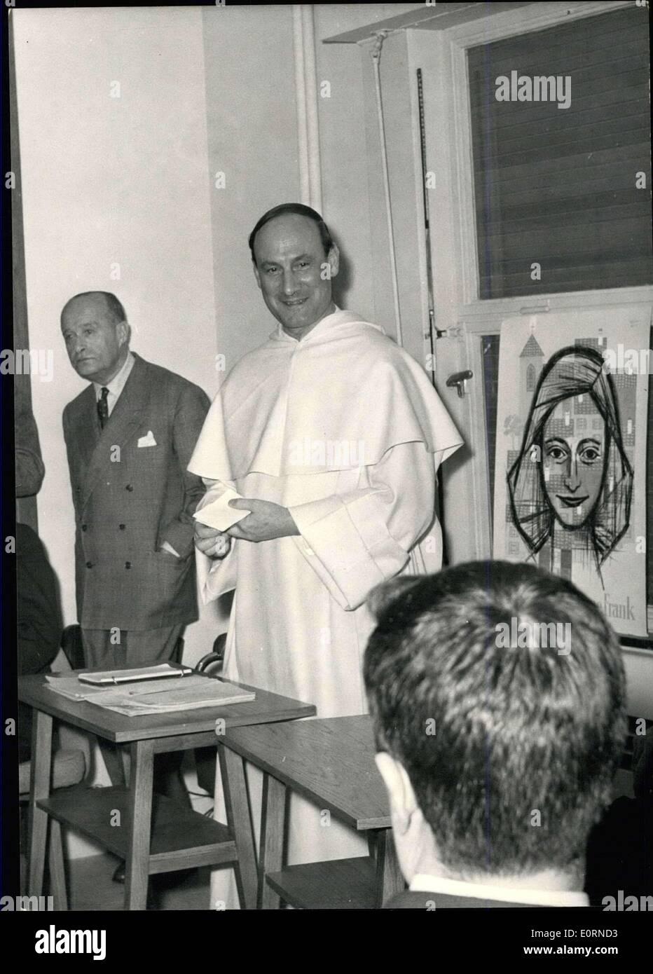 28. Januar 1960 - Pfr. F. Pire (Nobelpreis für den Frieden) in Paris ...