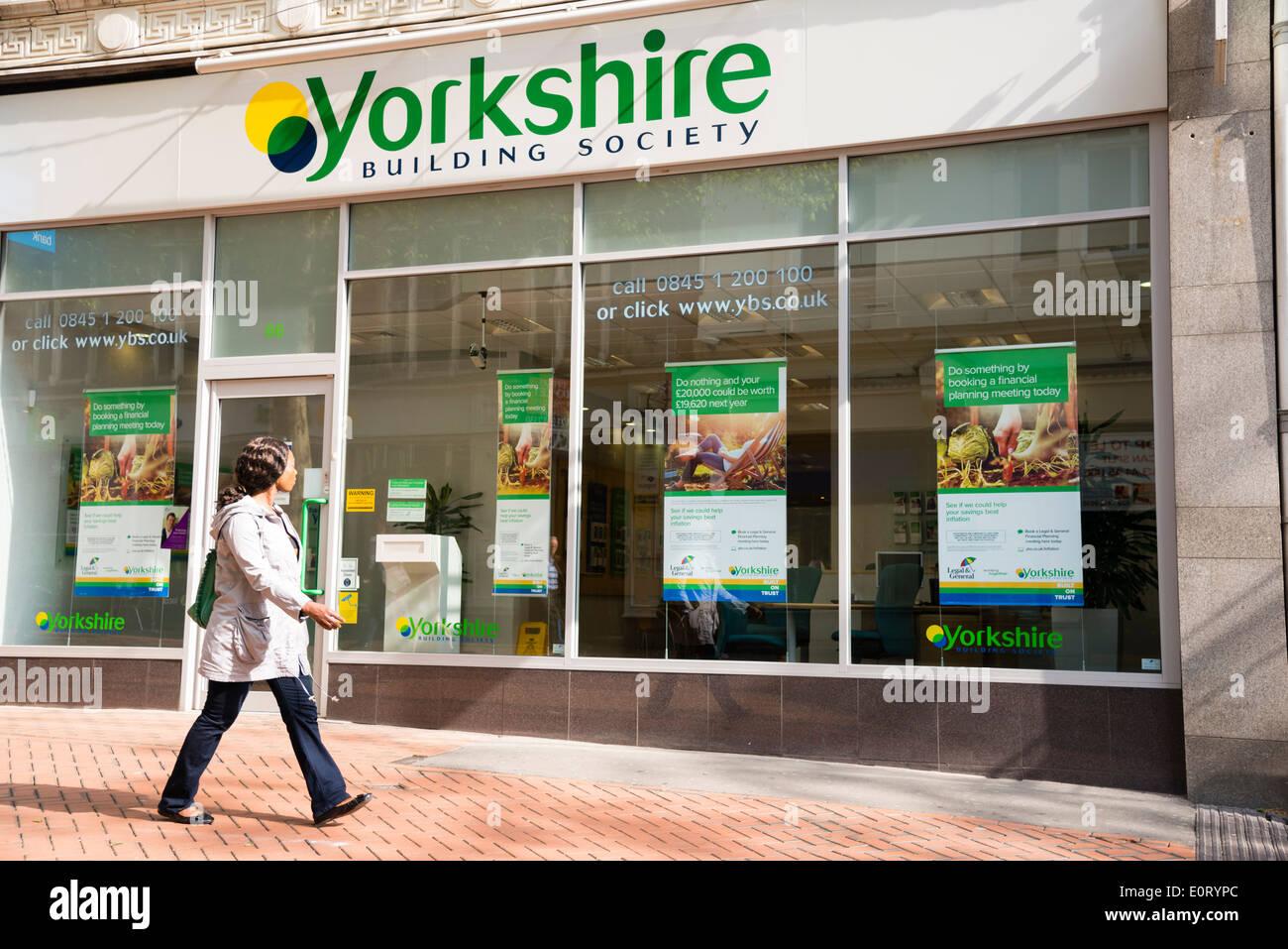 Yorkshire Building Society in Birmingham City Centre, Großbritannien. Stockbild