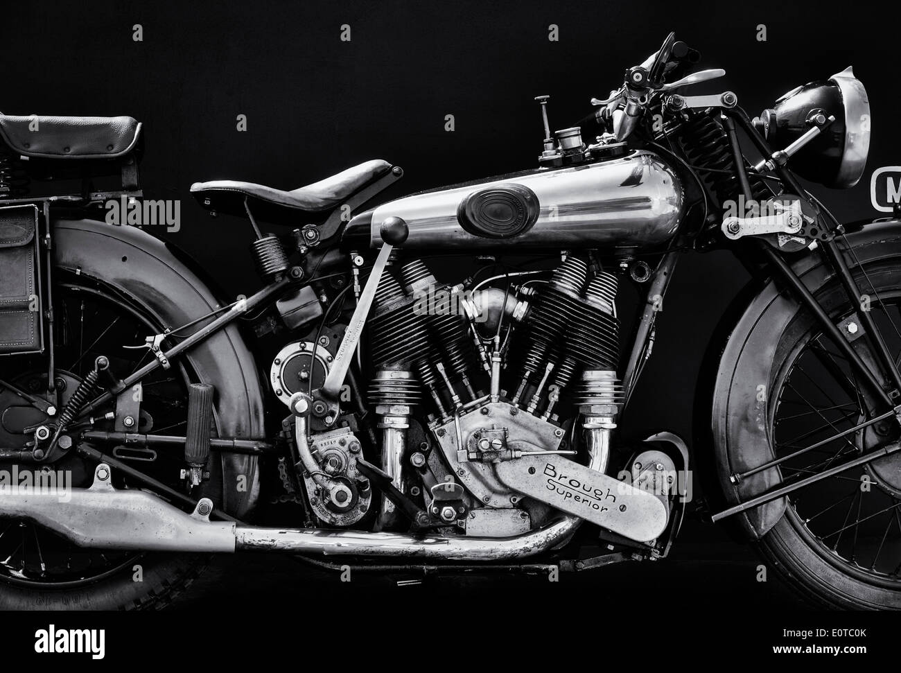 Motorcycle Black And White Stockfotos Motorcycle Black And