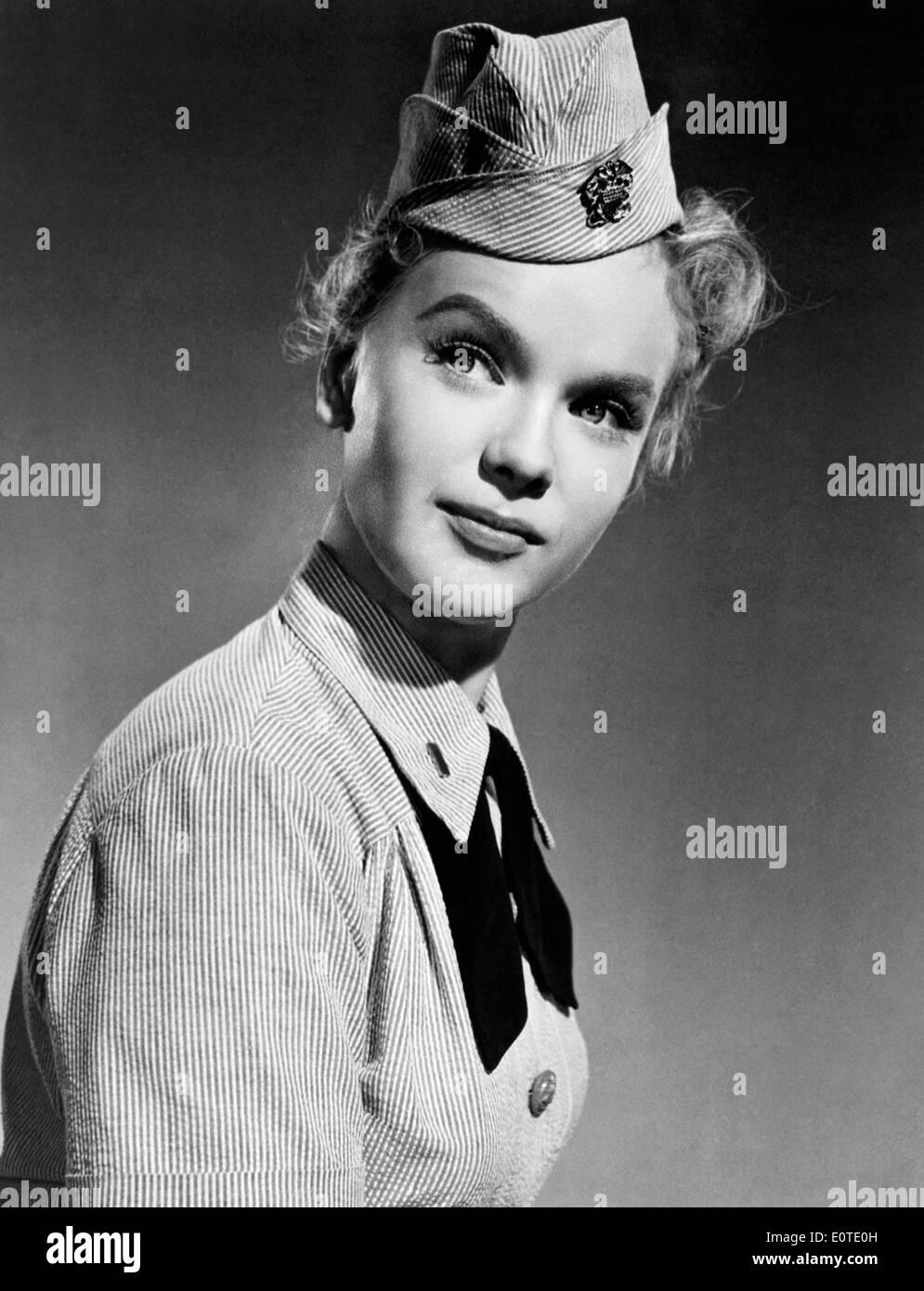 Anne Francis, Werbung Portrait, ca. 1950 Stockbild