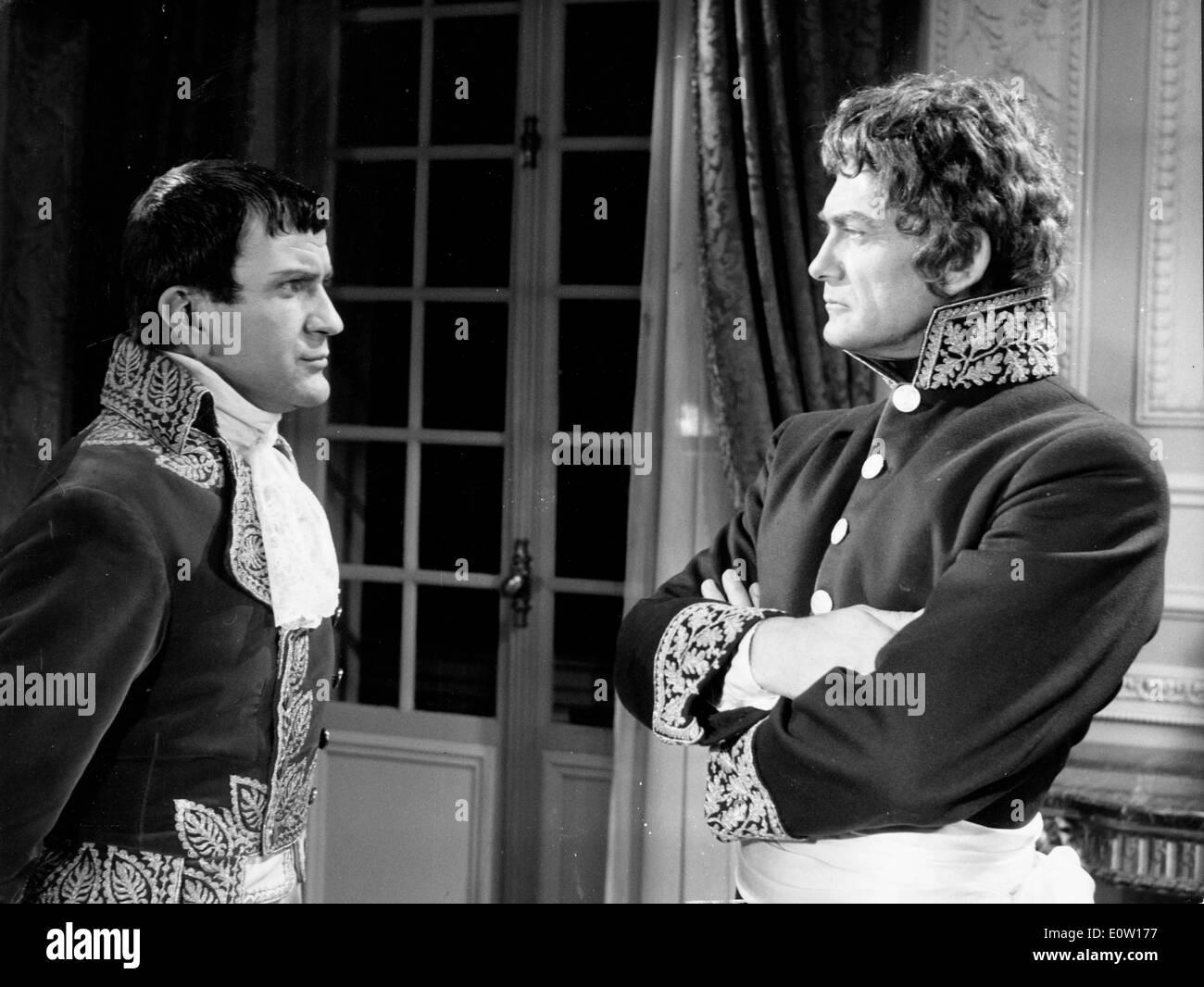 Schauspieler Jean Marais in einer Szene aus einem film Stockfoto