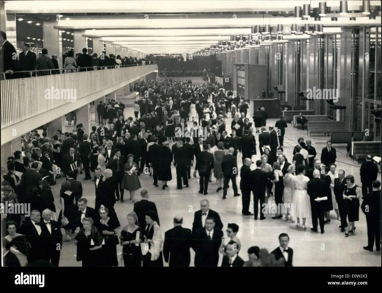 24. Februar 1961 - Öffnung Nacht Soiree am Flughafen Orly Stockbild