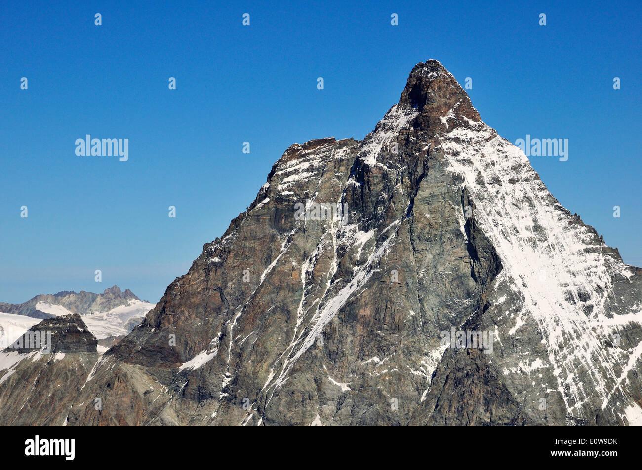 Matterhorn 4478 m, Klein Matterhorn, Zermatt, Kanton Wallis, Schweiz Stockbild