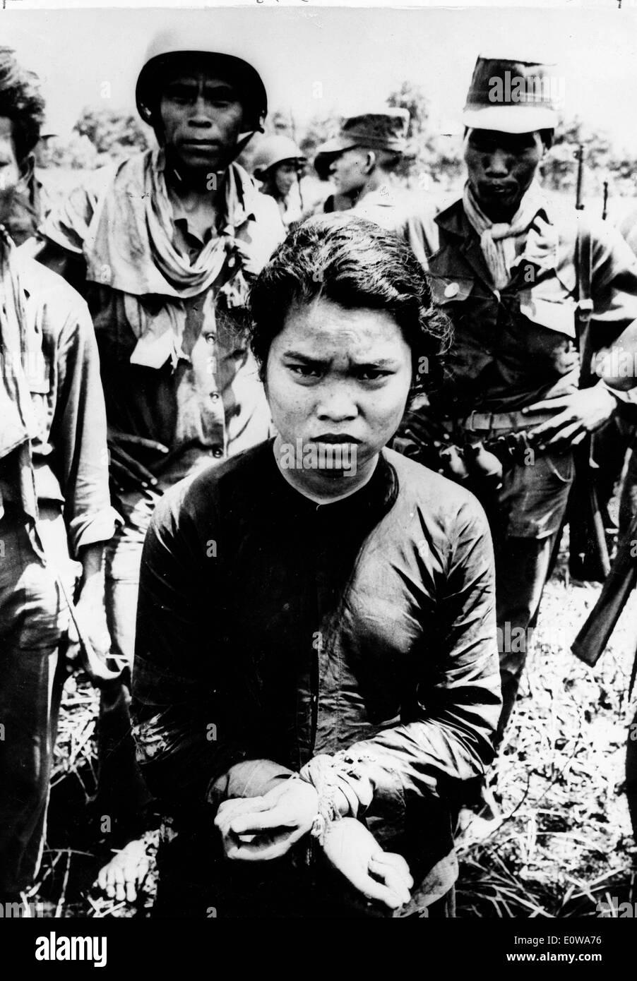 Vietnamesin Soldat gefangen Stockbild